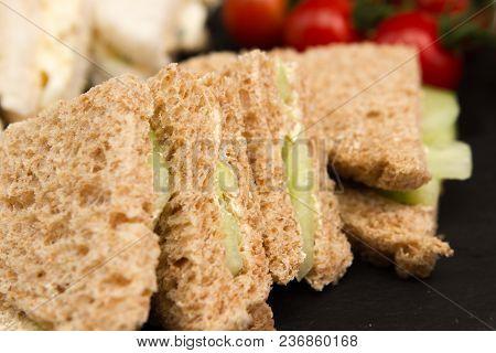 Vegetarian Sandwiches A Selection Of Vegetarian Sandwiches Cucumber