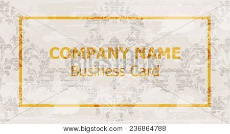 Business Card Layout Design Vector. Ornamented Background