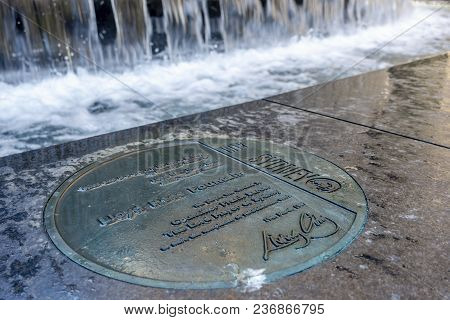 Sydney, Australia - Nov 14, 2017: Commemorative Plaque Marks The Location Of The Iconic Lloyd Rees F