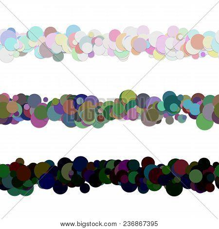 Repeatable Chaotic Dot Pattern Paragraph Divider Line Design Set - Vector Graphic Decoration Element