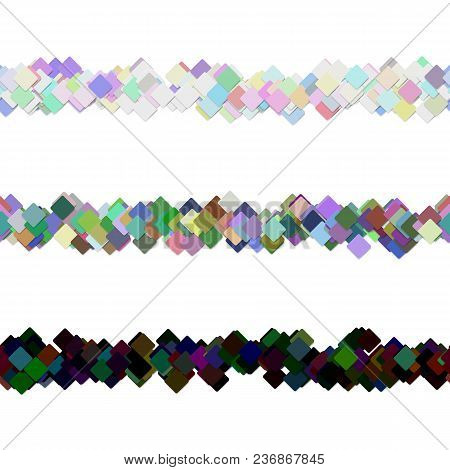 Repeatable Abstract Square Pattern Paragraph Separator Line Design Set - Vector Decoration Elements
