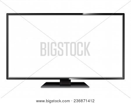 Realistic Tv Model With Empty White Screen