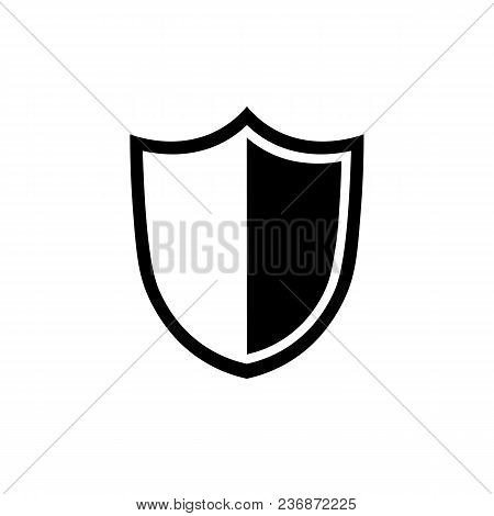 Shield Icon In Flat Style. Security Symbol Isolated On White Background. Shield Vector Icon. Simple