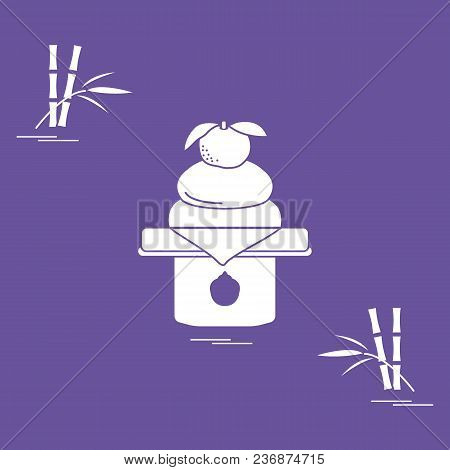 Kagami Mochi - Traditional New Year Treats In Japan. Festive Traditions Of Different Countries.