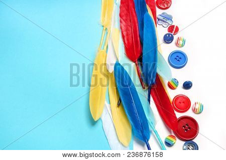 Fashion ribbons and buttons