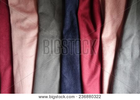 Artificial Suede Fabrics In Different Colors (folded)