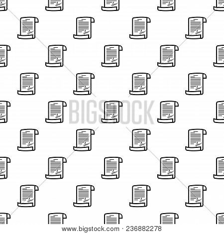 Agreement Pattern Vector Seamless Repeating For Any Web Design