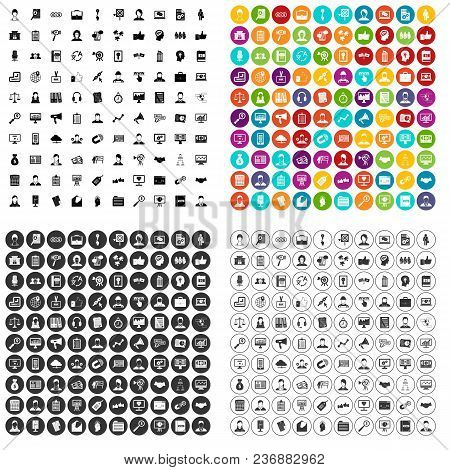 100 Chief Icons Set Vector In 4 Variant For Any Web Design Isolated On White