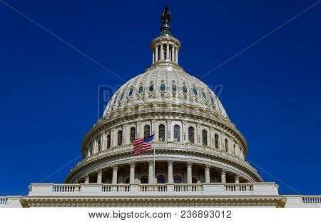Capitol Building Scenic Democracy View, Washington Dc, Usa