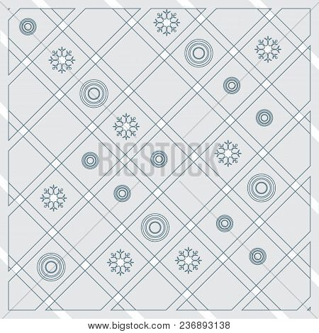 Pattern Of Diagonal Stripes Or Lines In Nice Colors With Circles And Snowflakes. Template For Prints