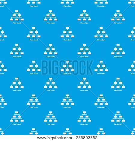 Flow Chart Pattern Vector Seamless Blue Repeat For Any Use