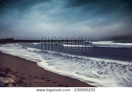 Ocean Landscape With Dramatic Sky Before Storm