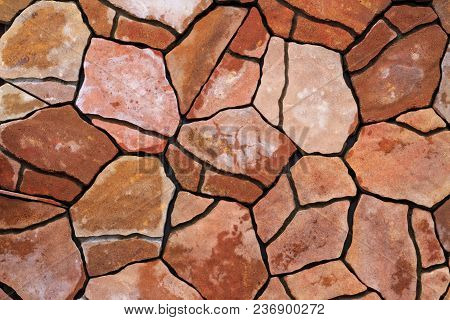 Texture Of Cracks Paving Tiles, Construction, Design And Style