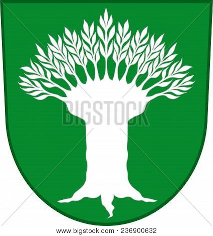 Coat Of Arms Of Wesel Is A District In The Northwestern Part Of North Rhine-westphalia, Germany. Vec