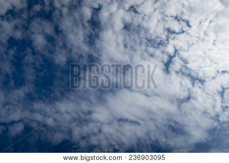 Texture Of Beautiful Blue Sky And White Clouds