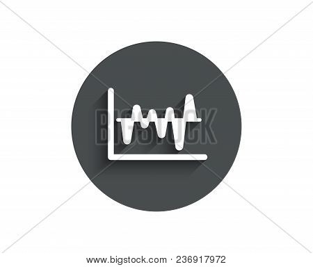 Investment Chart Simple Icon. Economic Graph Sign. Stock Exchange Symbol. Business Finance. Circle F