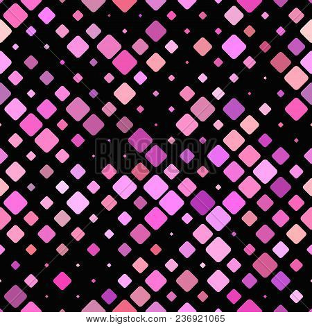 Geometric Diagonal Rounded Square Pattern Background - Repeatable Graphic Design