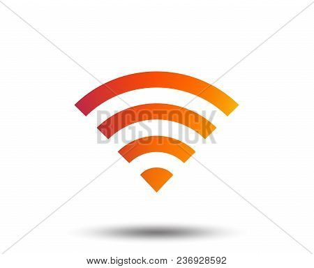 Wifi Sign. Wi-fi Symbol. Wireless Network Icon. Wifi Zone. Blurred Gradient Design Element. Vivid Gr