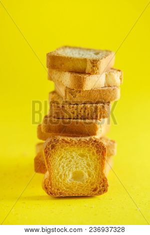 toasts on the yellow background