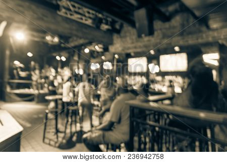 Blurred Live Music Entertainment Stage Perform At Nightclub In New Orleans