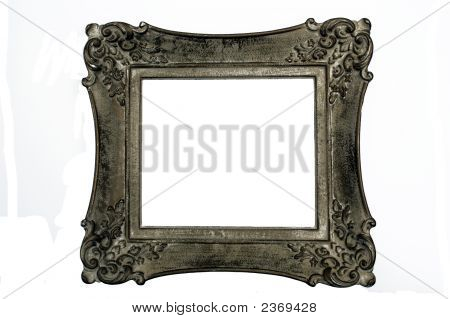 Antique Picture Frame, Square, Dark Gray Color