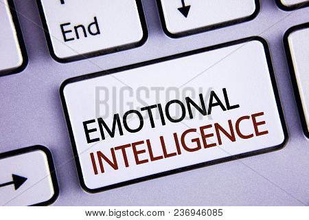 Handwriting Text Writing Emotional Intelligence. Concept Meaning Capacity To Control And Be Aware Of