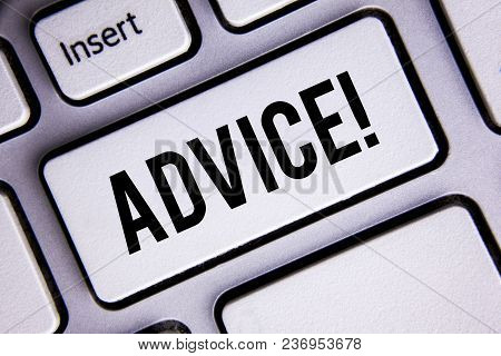 Text Sign Showing Advice Motivational Call. Conceptual Photo Learn To Be Good At Advicing People, Bu