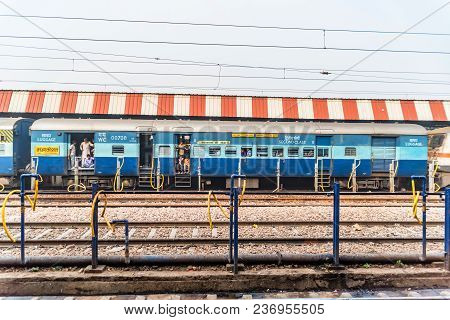 Agra, India - November 9, 2017: Second Class Carriage In Agra. Agra Cantonment Is The Main Railway S