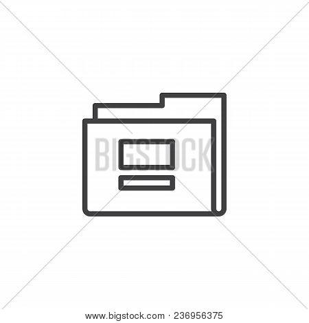 Folder Outline Icon. Linear Style Sign For Mobile Concept And Web Design. Empty Folder Simple Line V