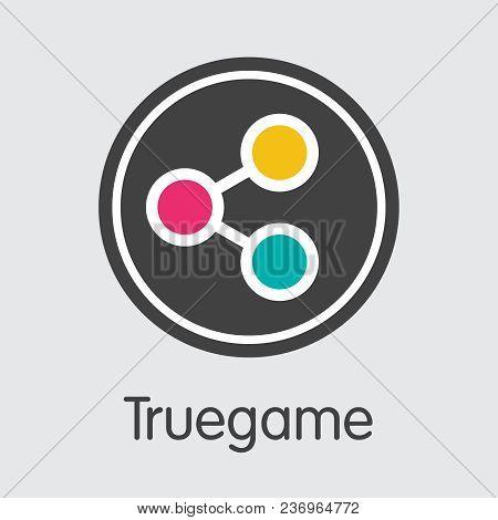 Truegame - Logo Of Fintech Industry, Finance Digitization. Modern Coin Symbol. Premium Quality Web I