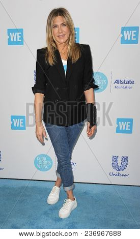 Jennifer Aniston at the 2018 WE Day California held at the Forum in Inglewood, USA on April 19, 2018.