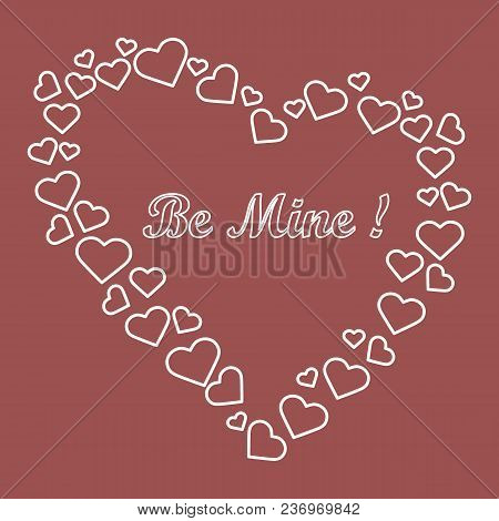 Heart Composed Of Many Hearts And The Words: Be