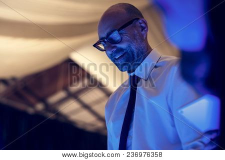 Business people with network system