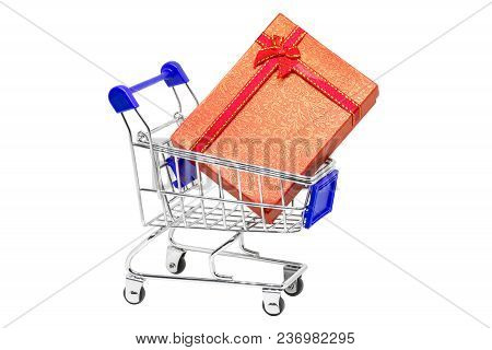 Big Gift In A Shopping Cart