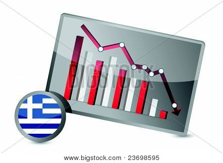 greece suffering crisis graph design