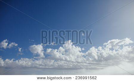 clouds on blue sky at sunny day