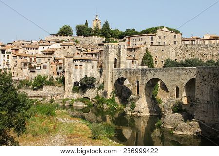 Spain, Besalu - June 28, 2012: The Medieval City Of Catalonia - National, Historical And Cultural Mo