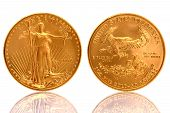 The American Gold Eagle Coin is an official gold bullion coin of the United States it is minted in 22 karat gold. poster
