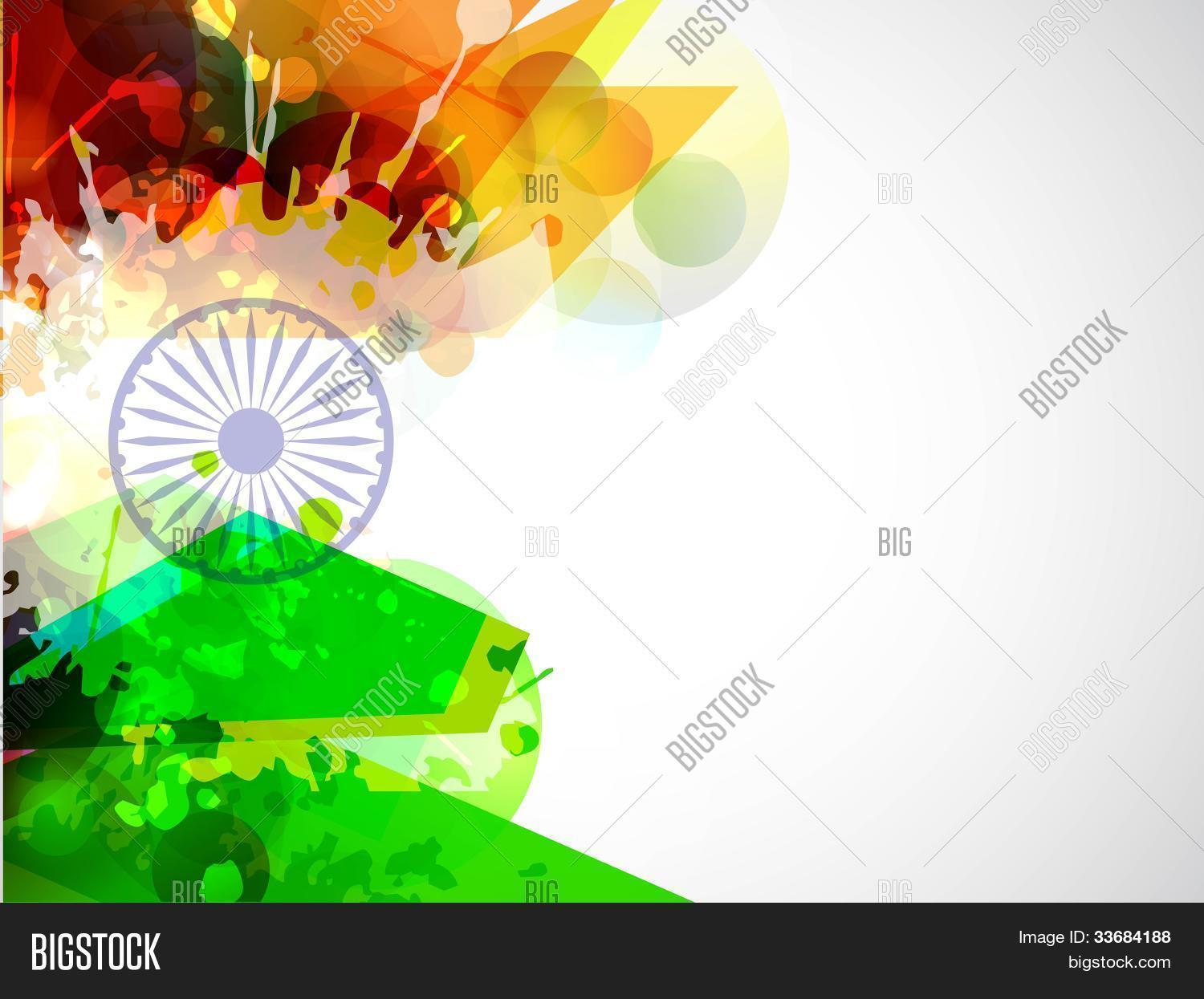 Creative Indian Flag Vector Photo Free Trial Bigstock