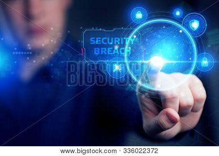 Cyber Security Data Protection Business Technology Privacy Concept. Young Businessman Working  In Th