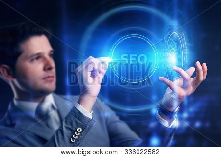 Business, Technology, Internet And Network Concept.   Seo Search Engine Optimization Marketing Ranki