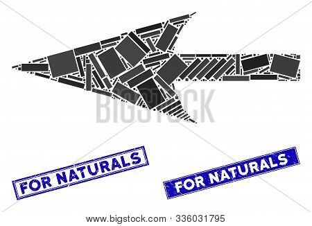 Mosaic Sharp Left Arrow Icon And Rectangular For Naturals Stamps. Flat Vector Sharp Left Arrow Mosai