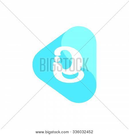 Letter Ie Symbol Linked Curves Triangle Logo Vector