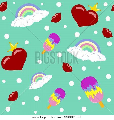 seamless pattern with hearts for Valentine's day vector. Valentine, valentine day, Valentines Day background, Valentine's day banners, Valentines Day flyer, Valentines Day design, Valentines Day with Heart on pink background, Copy space text area, vector