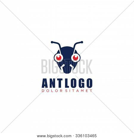 Ant Mask Logo . Ant Logo Template Illustration Design. Vector Eps 10.