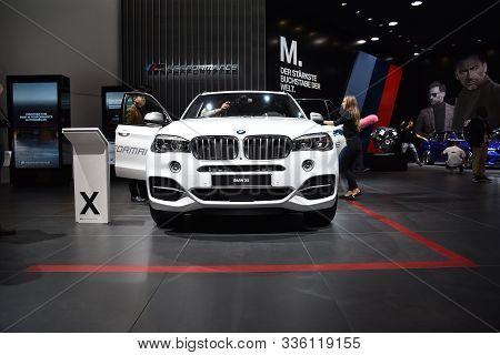Frankfurt, Germany, September 12-2017: Bmw X5 At Iaa 2017