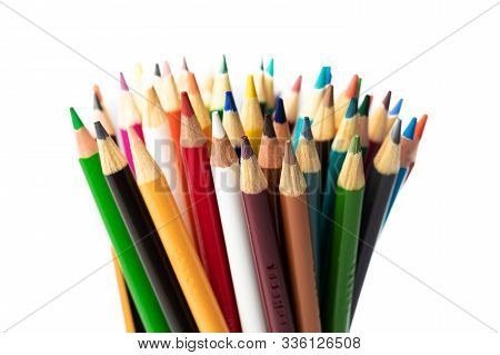 Colored Pencils On Black Background School Project Teacher Art Project Back To School June September
