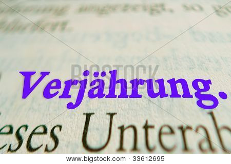 German Statute of limitations