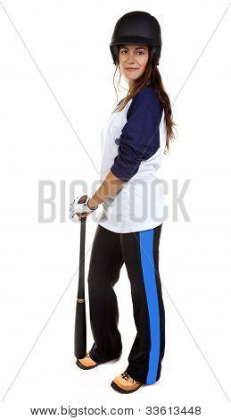 Woman Baseball or softball Player