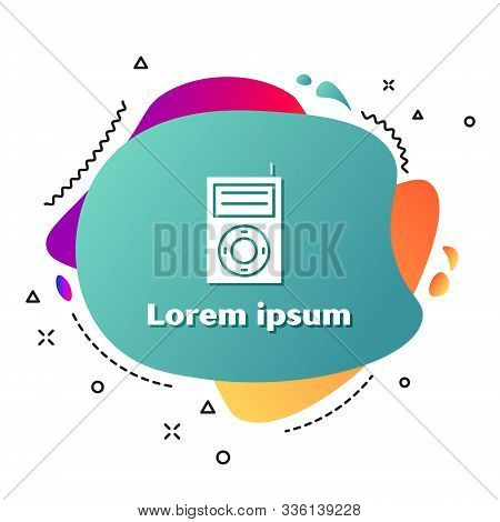 White Music Mp3 Player Icon Isolated On White Background. Portable Music Device. Abstract Banner Wit